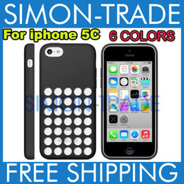 Wholesale New Arrival Iphone5c Case - New Arrival iphone5C iphone 5C case dot dots back cover case cases fashion clear Silicon crystal design soft rubber TPU Colorful Brand NEW