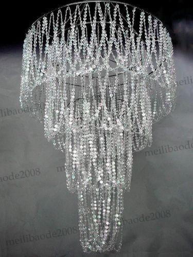 Large 4 Tiered Crystal Bead Curtain Diamond Cut Crystal For Wedding Home Hotel Decoration MYY5854
