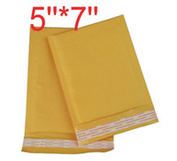 Wholesale Envelopes Bags Bubble - Golden Kraft Bubble Mailers Padded Envelopes Bags High Quality 122*178+40MM(5''*7'') 9055