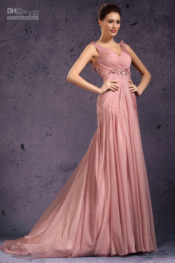 2019 New long sleeveless V neck chiffon Prom Dresses Formal Evening dresses gossip girl 3172