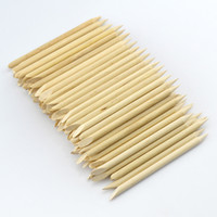 Wholesale Nail Paper Cleaner - Supernova Sale 100pcs lot 7.5cm Wood Sticks Tool for Nail Art Cuticle Pusher Remover Clean Wipes Cotton Lint Pads Paper T422