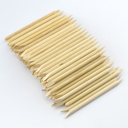 Wholesale Paper Remover - Supernova Sale 100pcs lot 7.5cm Wood Sticks Tool for Nail Art Cuticle Pusher Remover Clean Wipes Cotton Lint Pads Paper T422