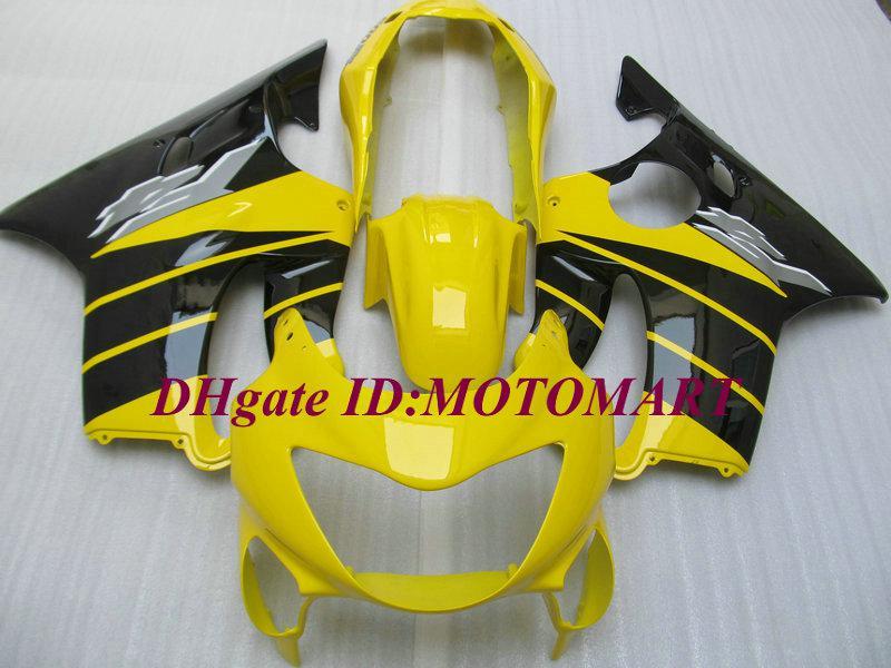 Customized Fairing set for HONDA CBR600F4 99 00 CBR600 F4 1999 2000 CBR 600 F4 600F4 CBR600 yellow black Fairings body kit HP32