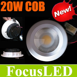 Wholesale Cob Led Watt - Good Quality COB 20W 1*20 Watt LED Downlights 6.5 inch Recessed Lamps With Power Supply driver Fixture Ceiling Cabinet Lights+CE ROHS CSA UL