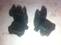 Wholesale Back Up Sights - Back-up Sight Gen 1 Front And Rear Folding Sights For Airsoft BK DE OD Free Shipping