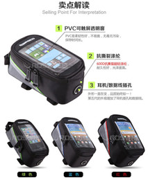 Wholesale Headphones Tube - Waterproof Cycling Bike Bicycle Frame Front Tube Bag For 5.5 inch Touchscreen Phone with headphone hole