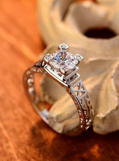 2017 Paris Eiffel Tower Simulation Diamond Ring Diamond Wedding