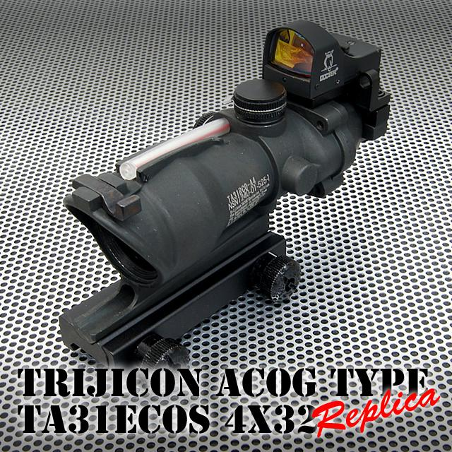 ACOG TA31 4X32 Scope met Doctor Auto Red Dot Sight Scope Black