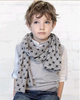 Wholesale Grey Scarf Skull - 2013 New Child Baby baby Scarves Double Skull Scarves Shawl Printing Family Scarves 10pcs lot