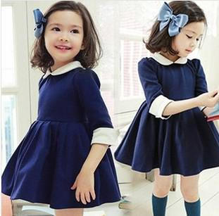 6d5976f40ebb3 2019 New Arrival Children Dress 2014 Spring Hot Salel Cute Korean Style 3 7  Years Baby Girl's Half Sleeve Puff Sleeve Bowknot Princess Dress From ...