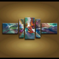 Wholesale High End Wall Art Panels - Framed 5 Panel 100% Handmade Amazing High End Large 5pc Painting on Canvas Home Decoration Wall Art--XD01033