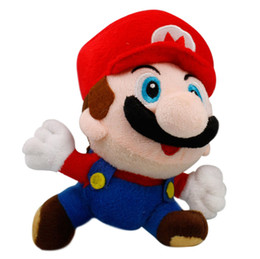 Wholesale Luigi Plush Hat - Cute Toys Super Mario Bros toys Mario PluRed Hat running Luigi sh toys Mario Luigi plush toy 17cm