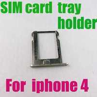 Wholesale Iphone 4s Replacement Silver - Brand New High Quality Replacement Silver SIM Card Tray Slot Holder for iPhone 4, 4G, 4S, 4GS, 4th Free Shipping