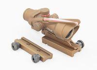 Wholesale Tan Acog Scope - Tactical ACOG TA31 1x32 Rifle Red Dot Scope Tan