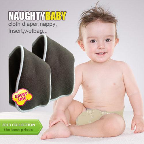 top popular US Free Shipping 100 pcs 4 layers (2+2) Reuseable Charcoal bamboo Insert Reusable Baby Cloth Diaper Nappy Inserts 2020