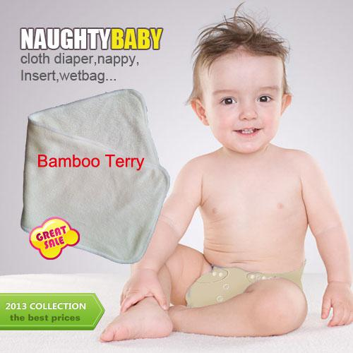Free Shipping Natural Fiber Bamboo Terry Absorption Bamboo Terry (4 layers) 36*14cm Cloth Diapers Pads Inserts nappy 300 pcs