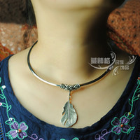 Special national wind necklace female short paragraph clavic...