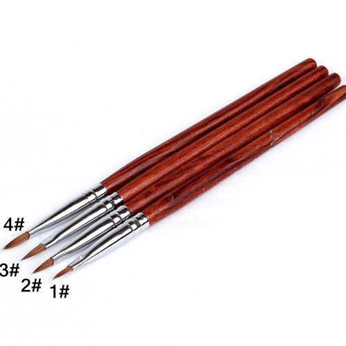 Pens flower Nail Art Pen Nail Polish ways Art Brush Nail Pen Kolinsky Wood Naill Art Brush Nail Brush Pen Set 01#