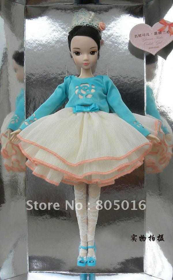 Wholesale - 29CM Tall Glamorous Kurhn Fashion Gentle Girl Bobby Doll With Beautiful Dress, Joint Body Model Toy