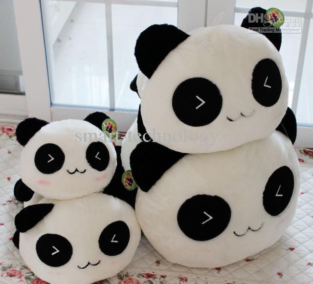 Panda muñeca de la almohadilla del asimiento de la felpa juguetes 25cm de cumpleaños presente muñeca del bebé envío libre