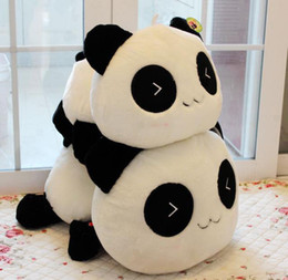 Wholesale Cute Love Comics - Hot sale super cute plush toy papa panda stuffed toy baby loves most 20cm