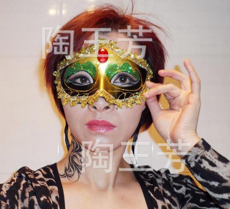 Kostenloser Versand Halloween Maske Maskerade Maske schön gemalt Phnom Penh direkt ab Werk billig