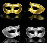 Wholesale party mask half face many colors PVC for Masquerade party gold silver red orange blue green