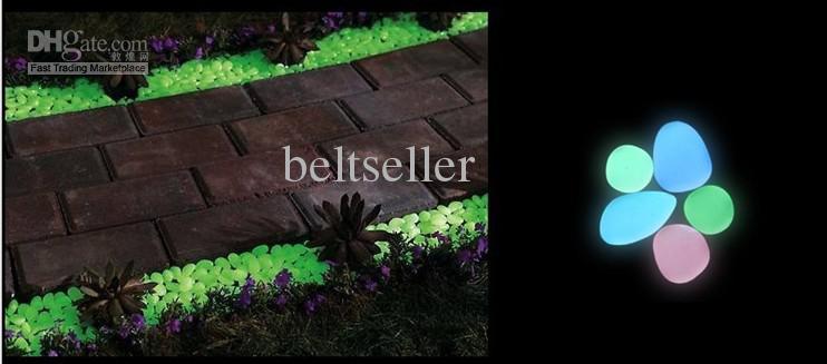 Resplandor en piedras de guijarros fluorescentes oscuras forma irregular resina de piedra de piedra jardín casero decoración del tanque de peces envío gratis
