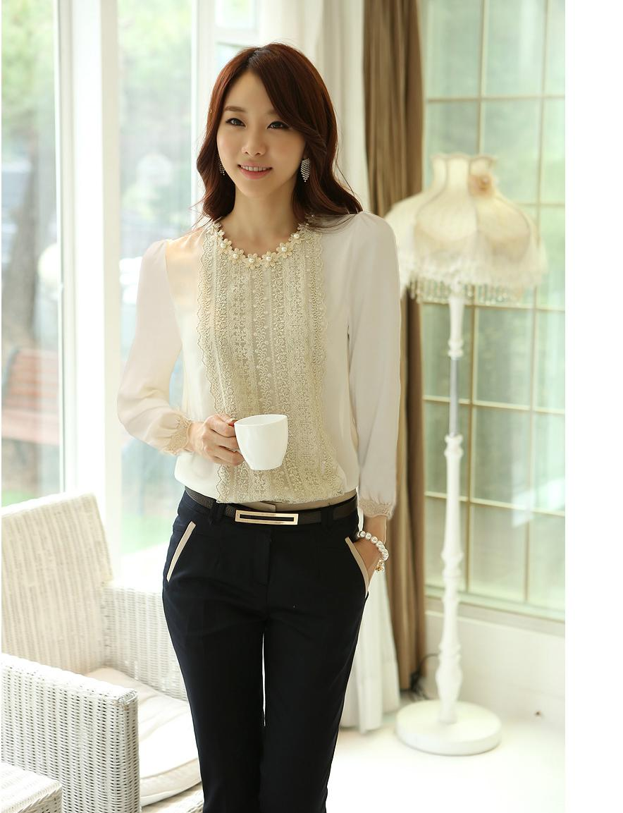 Cheap blouse shirt women, Buy Quality shirt lady directly from China fashion shirt women Suppliers: Lace Blouse Shirts Women HOT SALE Korean Fashion Clothing White/Black/Blue Short Sleeve Shirts Ladies Chiffon Summer Top Enjoy Free Shipping Worldwide! Limited Time Sale Easy Return/5().