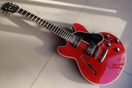 Wholesale Dot Guitar - 111223 best china guitar Custom Shop 335 Dot Reissue Figured, Gloss cherry red OEM Musical