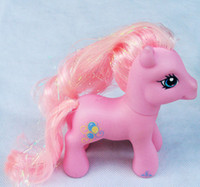 Wholesale Pvc Figures Little Pony - Free shipping by DHL 8cm tall baby toy girl's gift doll HasBro mini Pony treasure my little ponies children toys pvc Action Figures