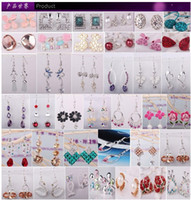 Wholesale Ear Ring Hooks - On sale rings MixedLot dozens of patterns Multicolor design piercing Earrings Stud Ear hook Dangle & Chandelie hoop free shipping