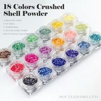 Wholesale Art Crush - supernova Sale Luxury 3d Nail Art Decorations 18 Colors Crushes Shell bead For UV Gel &Acrylic Nail Decoration D112