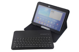 Wholesale Bluetooth Keyboard Galaxy - Removable Wireless Bluetooth 3.0 Keyboard Keypad + Flip Leather Case with 3 Stand For Samsung Galaxy Tab 3 10.1 P5200 P5210