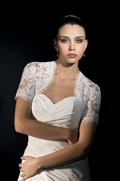 Bolero Brautjacken Kurzarm Hochzeitsaccessoires Brautaccessoires Günstige Braut Wraps Custom made Kostenloser Versand