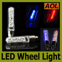 Wholesale Alarm Blue Flashing Light - Bicycle Cycling Bike 9 patterns 7 LED Light Tyre Wheel Spoke Lamp Blue Red flash alarm light cycle accessories LED Flash Tyre Lights