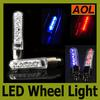 Bicycle Cycling Bike 9 patterns 7 LED Light Tyre Wheel Spoke Lamp Blue Red flash alarm light cycle accessories LED Flash Tyre Lights