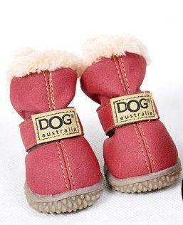 Frete grátis PU de couro filhote de cachorro do cão do inverno da neve quente sapatos de inicialização cores misturadas 10 jogos / lote