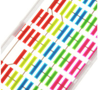 ingrosso gli autoadesivi di musica hanno condotto-45 cm * 11 cm Colorful Flash Car Sticker Musica Rhythm LED EL Foglio di luce lampada suono musica attivato equalizzatore adesivi per auto