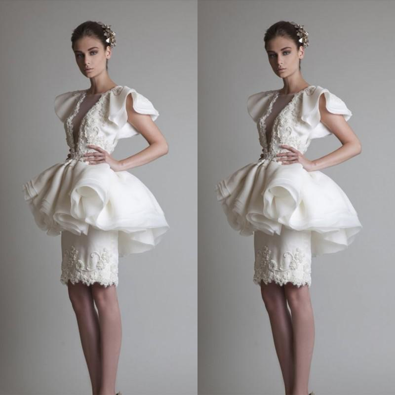 두 조각 흉상을 뒤에서 보자 Back Crew 반소매 동창회 드레스 칵테일 드레스 동창회 드레스 2016 (무료 6 개)