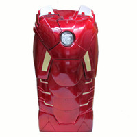 3D Hot Marvel Avengers Iron Man Mark VII MK7 Edición especial 3D Chaqueta de plástico con LED Flash para el iPhone 5 5G 5S caja al por menor
