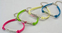Wholesale One Direction Bracelets Cheap - 30%off FREE SHOPPING!2013 New! Antique Silver * one direction * leather bracelet. Charm Bracelet cheap hot sale 15pcs WP