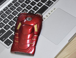 Wholesale Avengers Iphone 4s Case - FedEx Marvel Avengers Iron Man Mark VII MK7 Special Edition 3D Jacket Plastic Case Cover With LED Flash For iPhone 4 4G 4S 5 5G Retail Box