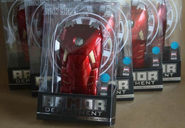 Wholesale Iron Led Case Iphone - EMS free 3D Marvel Avengers Iron Man Mark VII MK7 Special Edition 3D Jacket Plastic Case Cover LED Flash For iPhone 4 4S 5 5S Retail Box