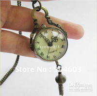 Wholesale Necklace Pocket Watches - Wholesale - 12pcs lot free shipping Vintage Steampunk Style Ball Pocket Watch Necklace WN11026