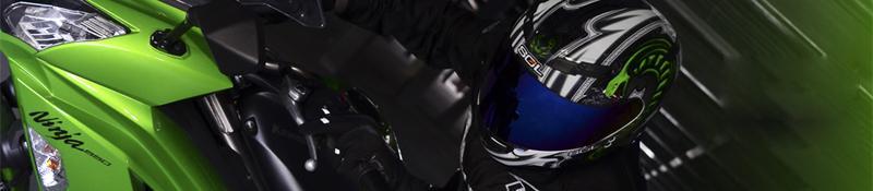 2013 nouvelle arrivée pour SOL COOL brillant brillant vert blanc noir Cobra casque avec la lumière LED MOTO casque intégral casque de moto casque
