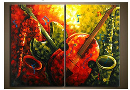 Wholesale Modern Abstrac - Oil painting on canvas modern art abstrac music art deco 100% handmade original directly from artist free fast shipping