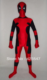 Wholesale deadpool costume xxs online – ideas Halloween cospaly Newest Hot Deadpool Spandex Deadpool Costume zentai Costumes