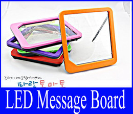 Wholesale Electronic Advertising - Wholesale Message Boards With Fluorescence Pen LED Night Light Electronic Romantic Writing WordPad Notepad Advertising Displaying Boa