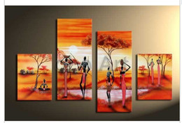 Wholesale Olo Art - Large Africa wall art hand painted Abstract modern oil paintings on canvas, wholesale oil paintings oLo PS_151